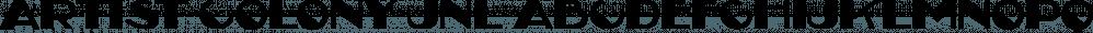 Artist Colony JNL font family by Jeff Levine Fonts