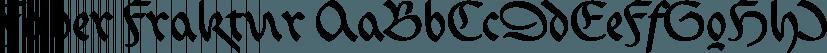 Faber Fraktur font family by ingoFonts