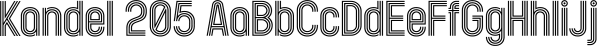 Kandel 205 font family by Talbot Type