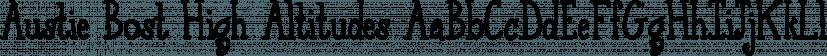 Austie Bost High Altitudes font family by Austie Bost Fonts