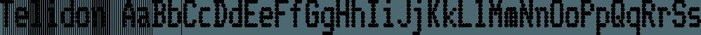 Telidon font family by Typodermic Fonts Inc.