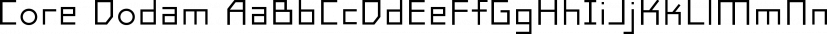 Core Dodam font family by S-Core