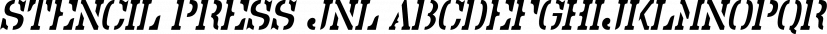 Stencil Press JNL font family by Jeff Levine Fonts