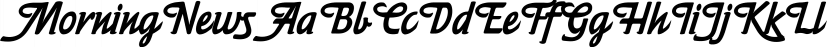MorningNews font family by Wiescher-Design