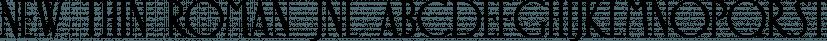 New Thin Roman JNL font family by Jeff Levine Fonts