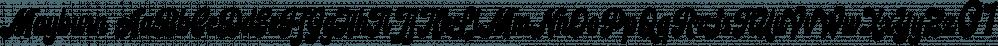 Mayburn font family by Letterhend Studio