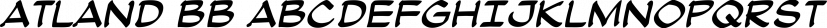 Atland BB font family by Blambot