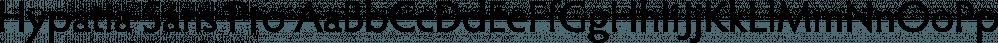 Hypatia Sans Pro font family by Adobe