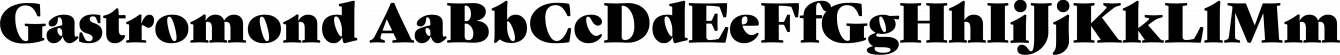 Gastromond font family by JTD