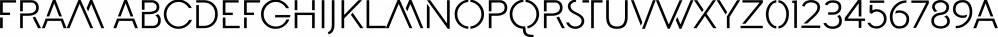 Fram font family by Juraj Chrastina