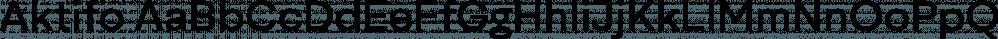 Aktifo font family by Degarism Studio