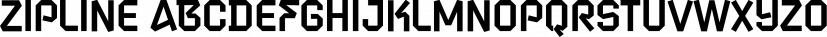Zipline font family by Device