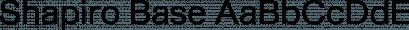 Shapiro Base font family by OGJ Type Design