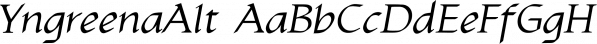 YngreenaAlt font family by Ingrimayne Type