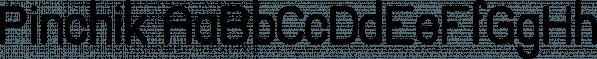 Pinchik font family by Vladfedotovv
