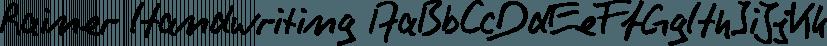 Rainer Handwriting font family by SoftMaker