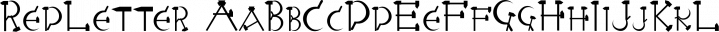 RedLetter font family by Ingrimayne Type