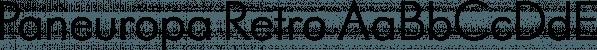 Paneuropa Retro font family by ROHH