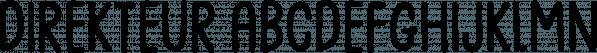 Direkteur font family by Bogstav