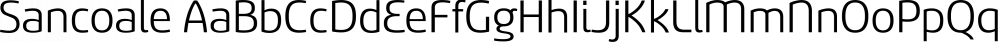 Sancoale font family by Insigne Design
