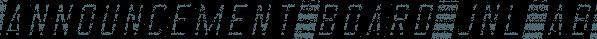 Announcement Board JNL font family by Jeff Levine Fonts