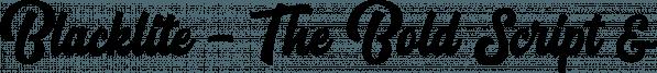 Blacklite font family by Letterhend Studio