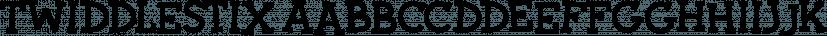 Twiddlestix font family by Sharkshock