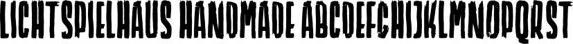 Lichtspielhaus Handmade font family by Typocalypse