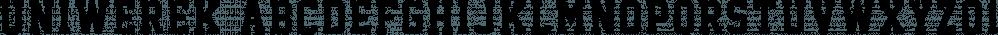 Uniwerek font family by GRIN3 (Nowak)
