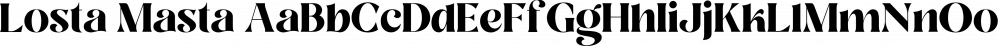 Losta Masta font family by Creative Media Lab
