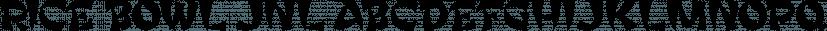 Rice Bowl JNL font family by Jeff Levine Fonts