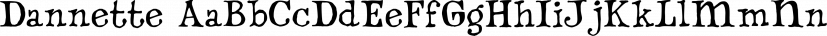 Dannette font family by Fonthead Design