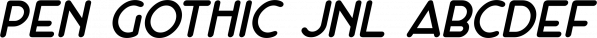 Pen Gothic JNL font family by Jeff Levine Fonts