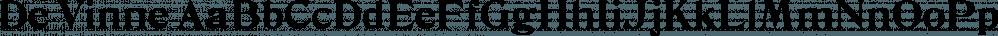 De Vinne font family by Wooden Type Fonts