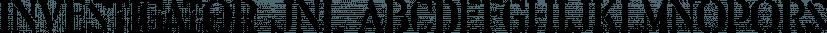 Investigator JNL font family by Jeff Levine Fonts