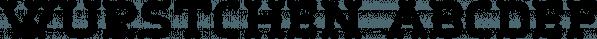 Wurstchen font family by Ingrimayne Type
