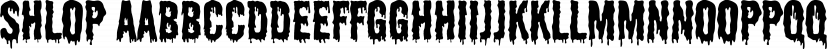 Shlop font family by Typodermic Fonts Inc.