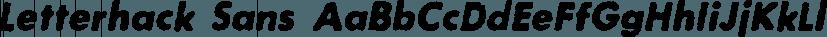 Letterhack Sans font family by Comicraft