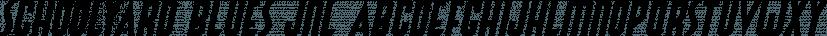 Schoolyard Blues JNL font family by Jeff Levine Fonts