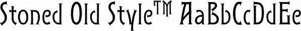Stoned Old Style™ font family by MINDCANDY