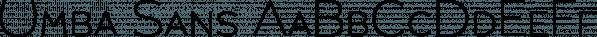 Umba Sans font family by Anita Jürgeleit