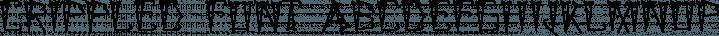 Crippled Font font family by Ingrimayne Type