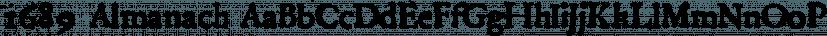 1689 Almanach font family by GLC Foundry