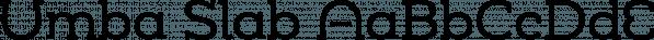 Umba Slab font family by Anita Jürgeleit