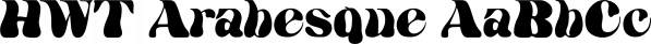 HWT Arabesque font family by Hamilton Wood Type