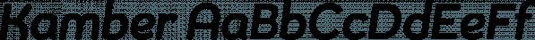 Kamber font family by Studio Buchanan