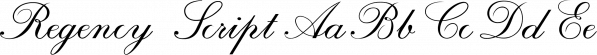 Regency Script font family by SoftMaker