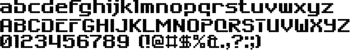 6809 Chargen Font Specimen