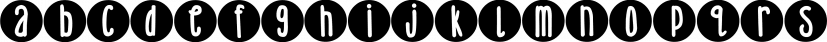 DJB Lemon Head Dots font family by Darcy Baldwin Fonts