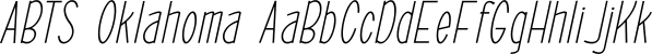 ABTS Oklahoma font family by Albatross